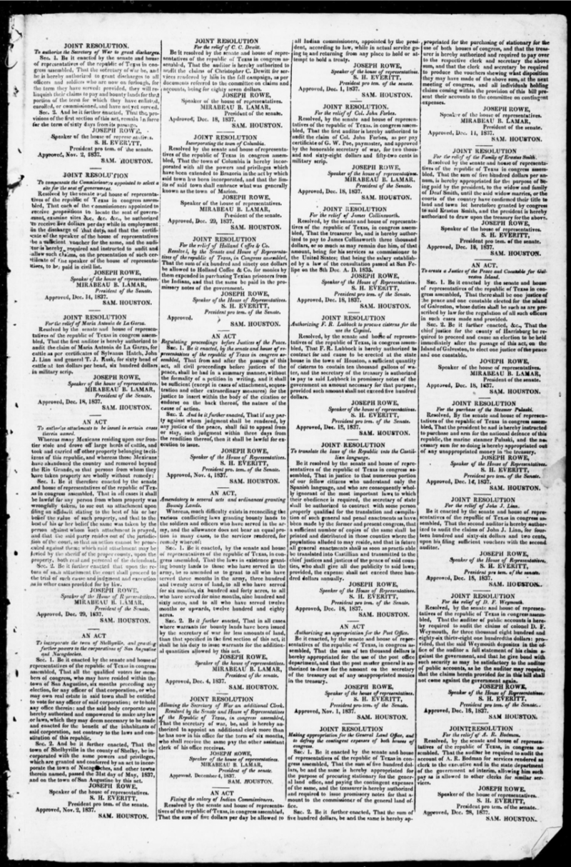 Second Column, Third Joint Resolution:
