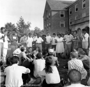 Volunteers training at Western College in 1964