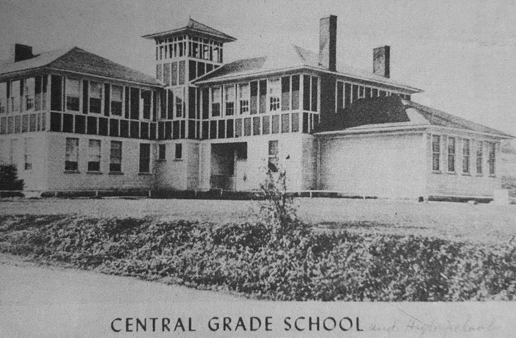 The first high school classes were held in the Central Grade School, located across the street where Buffalo Elementary School now stands.