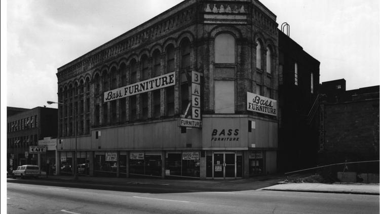 Bass Furniture Building, 1979 Photo.
