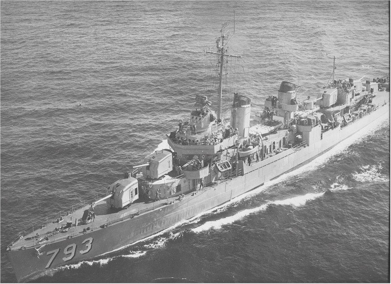 USS Cassin Young after being recommissioned 8 September 1951 for the Korean War