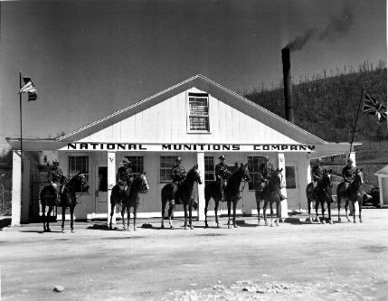 The National Munitions Company opened prior to the Japanese attack on Pearl Harbor, producing munitions for the British prior to the America's entry into the war in December, 1941.