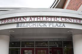 The entryway to Belichick Plaza