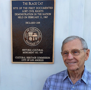 """Gay History: Los Angeles' Black Cat bar receives plaque, recognized as site of nation's 1st organized LGBT rights protest"" by Phillip Zonkel"