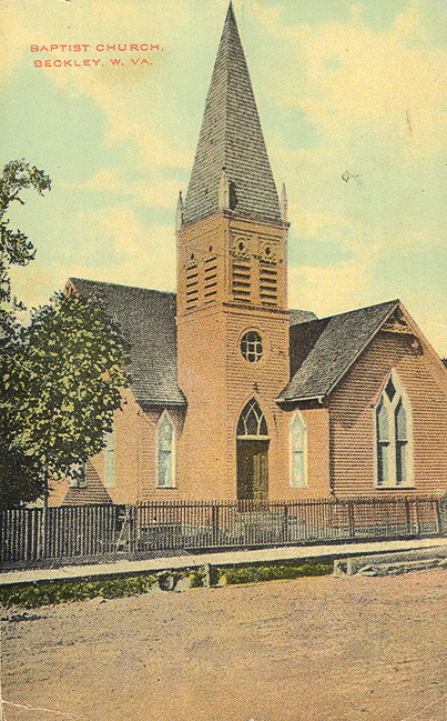 Depiction of a frame church building, likely the one built around 1893. Image obtained from the Florida Baptist Historical Society.
