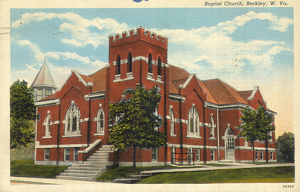 The first brick church was built in 1918 but soon proved too small for the growing congregation. Image obtained from the Florida Baptist Historical Society.