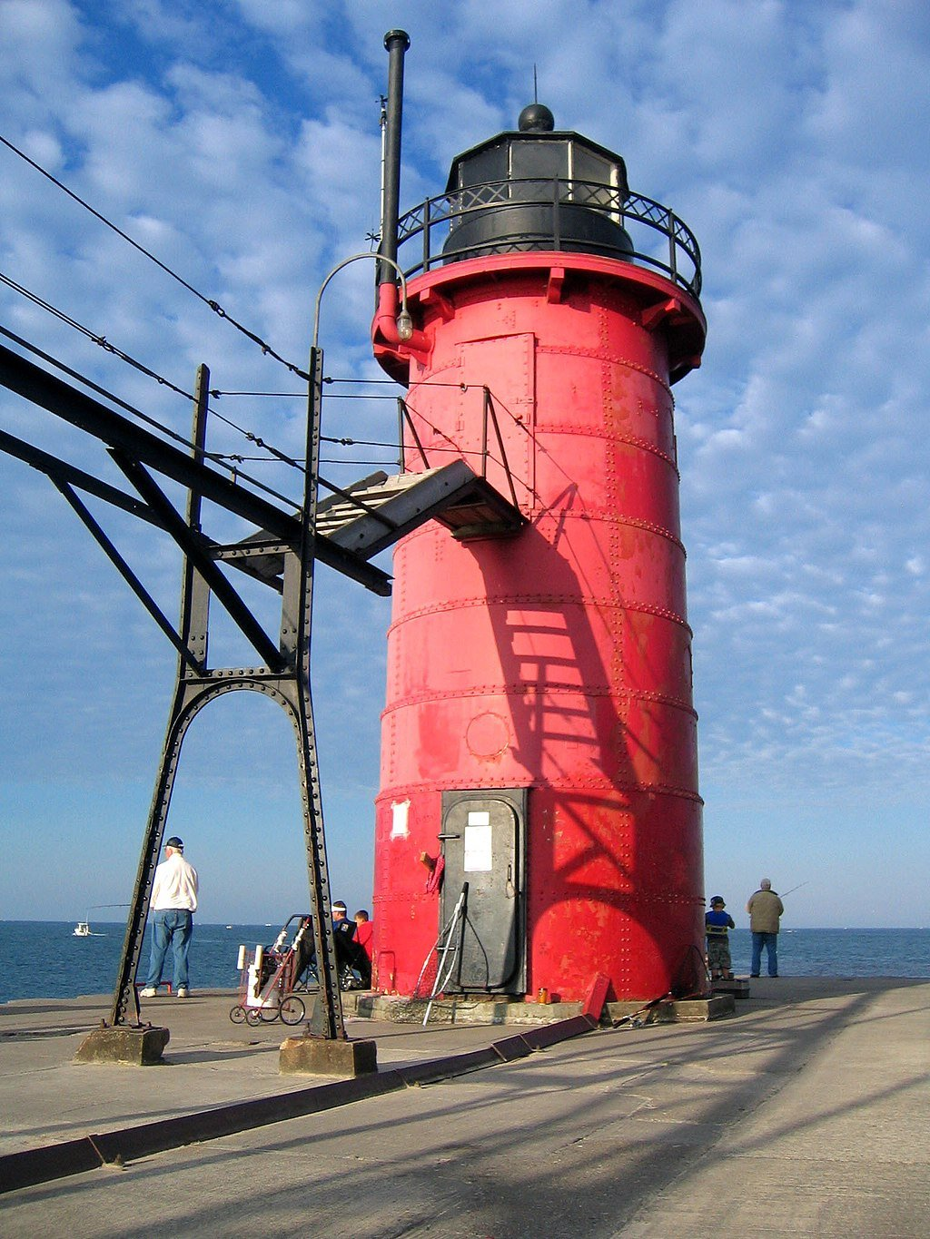 The South Haven Light was built in 1903 and remains an active navigational aid today.
