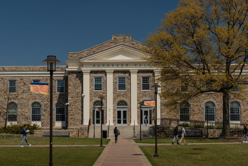 Holmes Hall located on campus of Morgan State University.