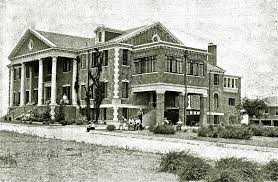 A photo of the building from its start in the early 1900s.
