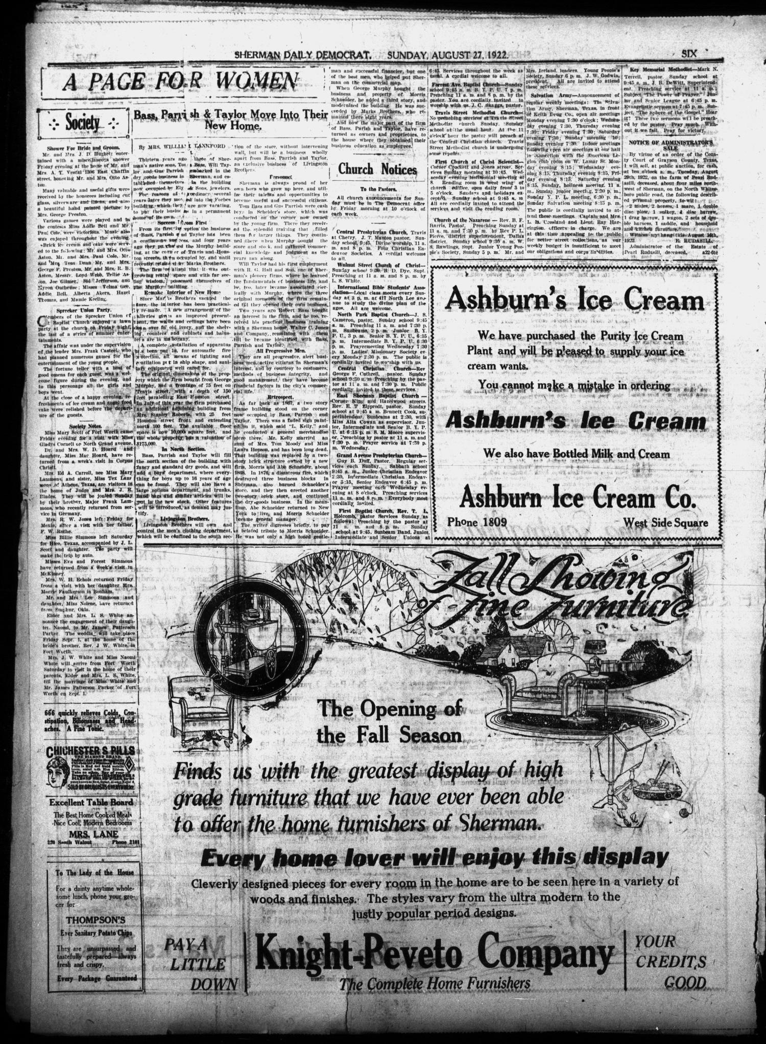 Article written on the Schneider Building in 1922