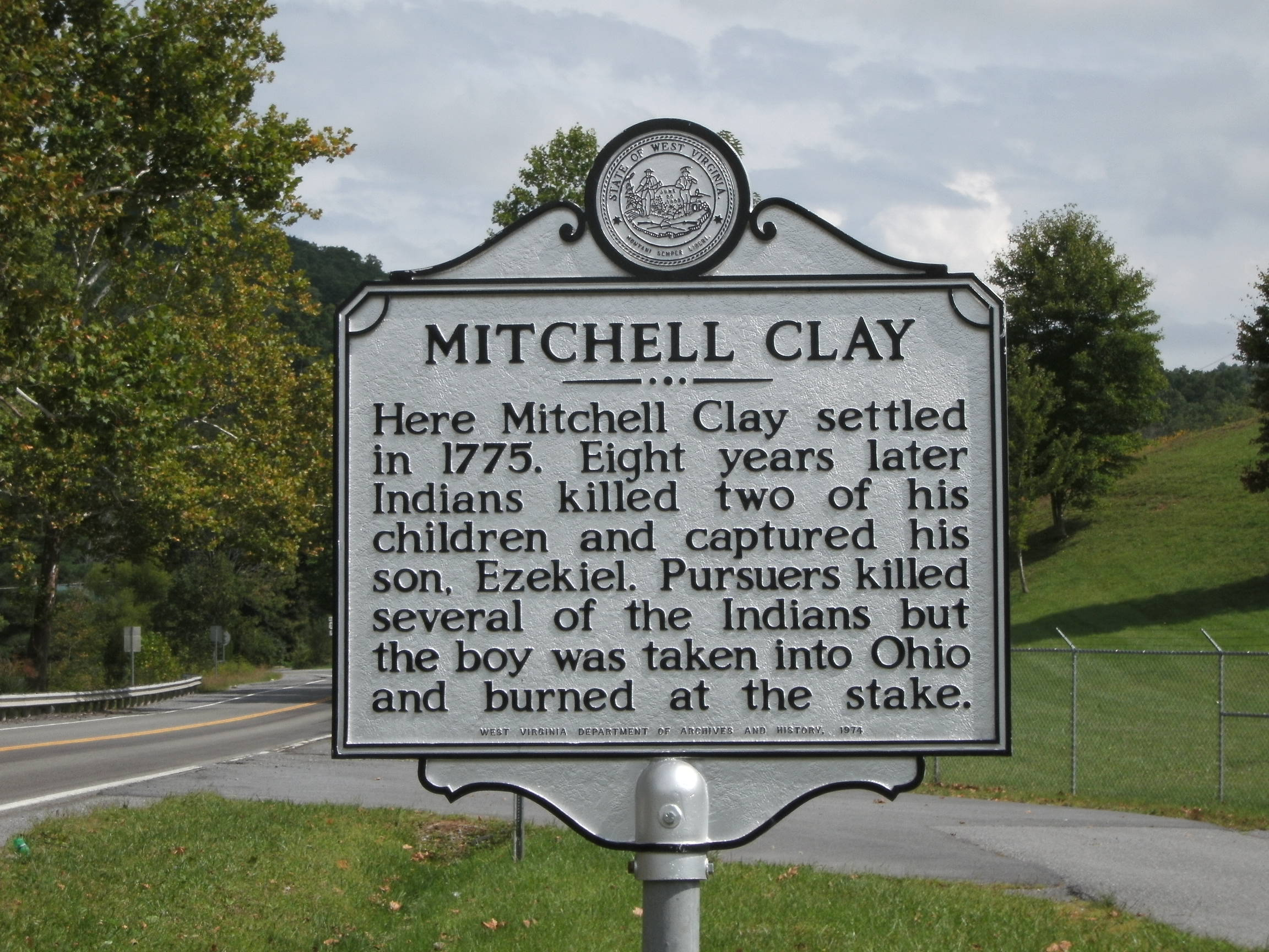 Historical Marker located on Rt. 10.  (photo by Steven Hart)