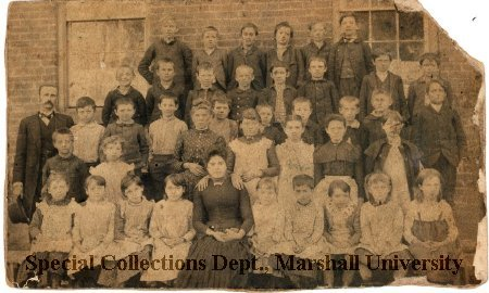 Students and teachers at Buffington School, circa 1885