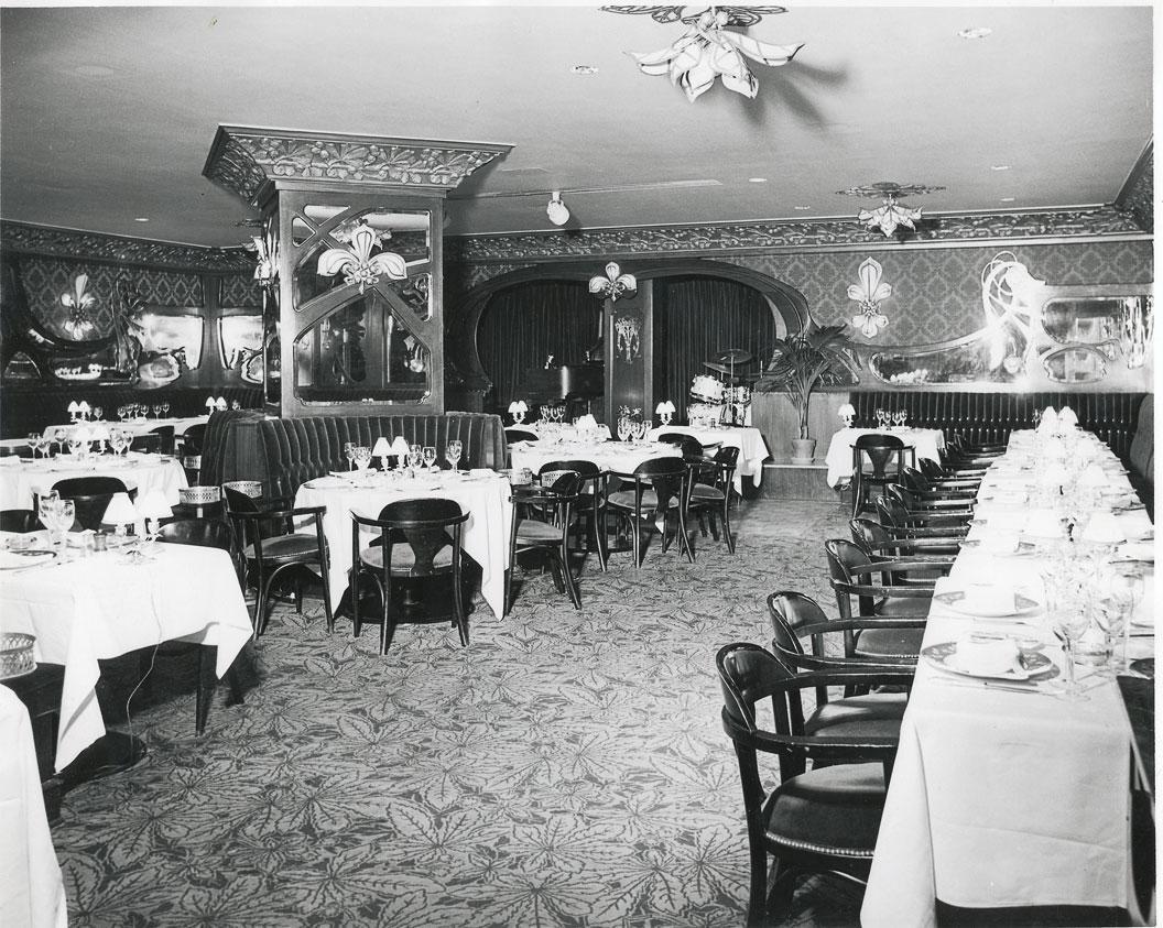 Interior of the former Maxim's restaurant in Astor Tower Hotel