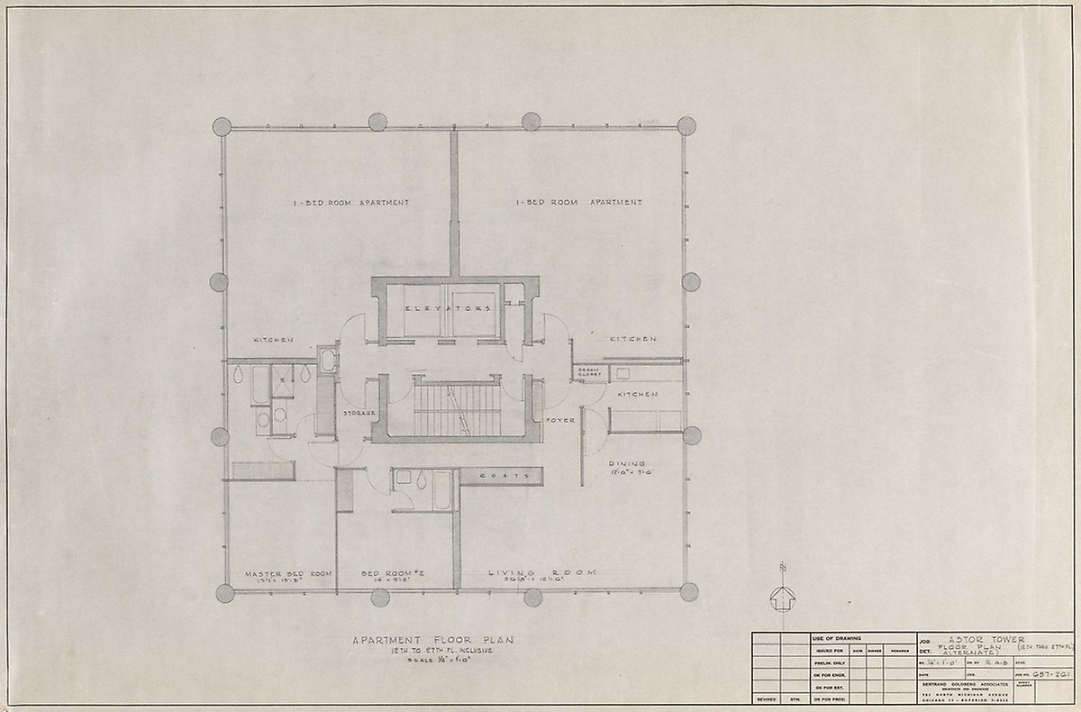 Floor plan of Astor Tower