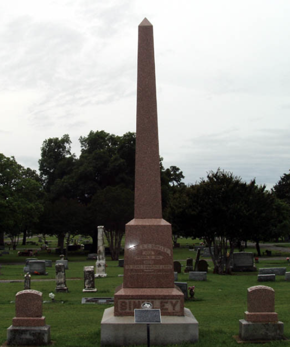 Grave site of C.C. Binkley