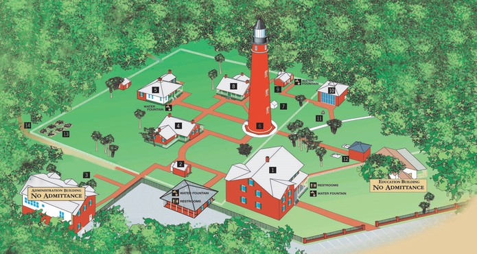 Map of the museum grounds.