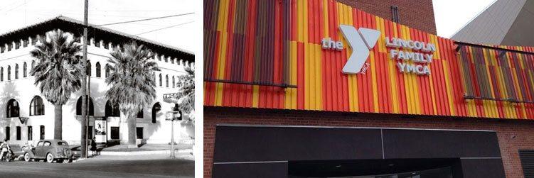 YMCA in 1911 (left) YMCA in 2006 (right)
