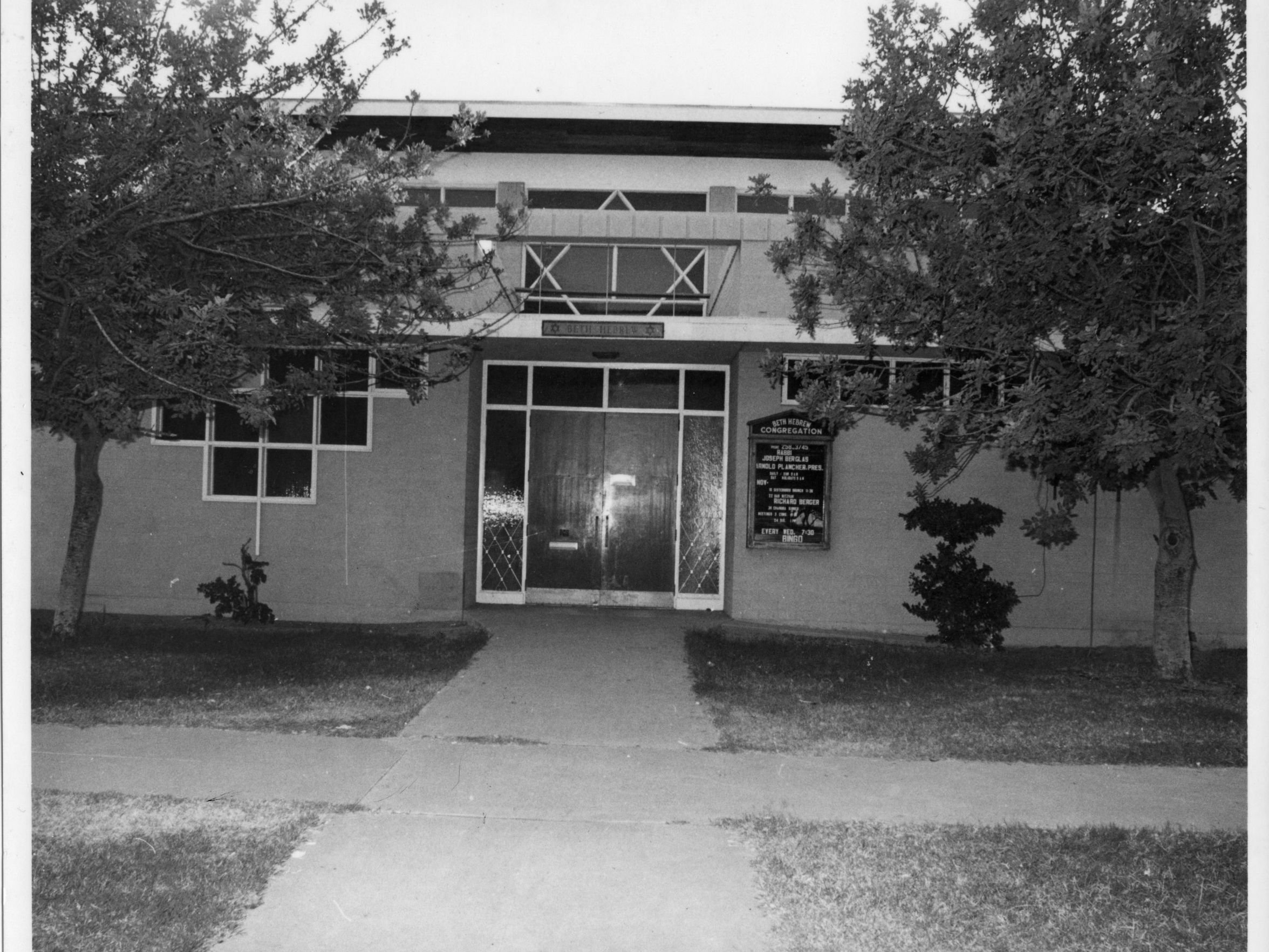 Front of Beth Hebrew in 1955. (AZ Jewish Historical Society)