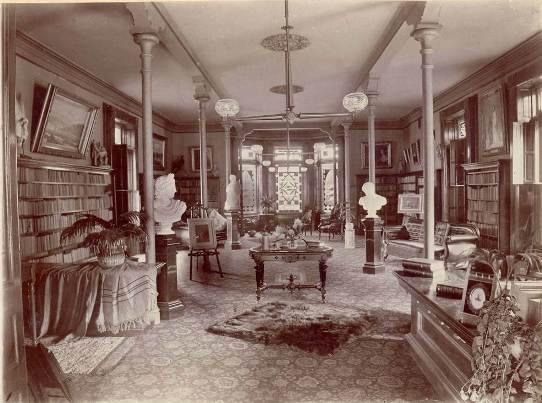 Interior of the Ladies Library Association Building, 1878