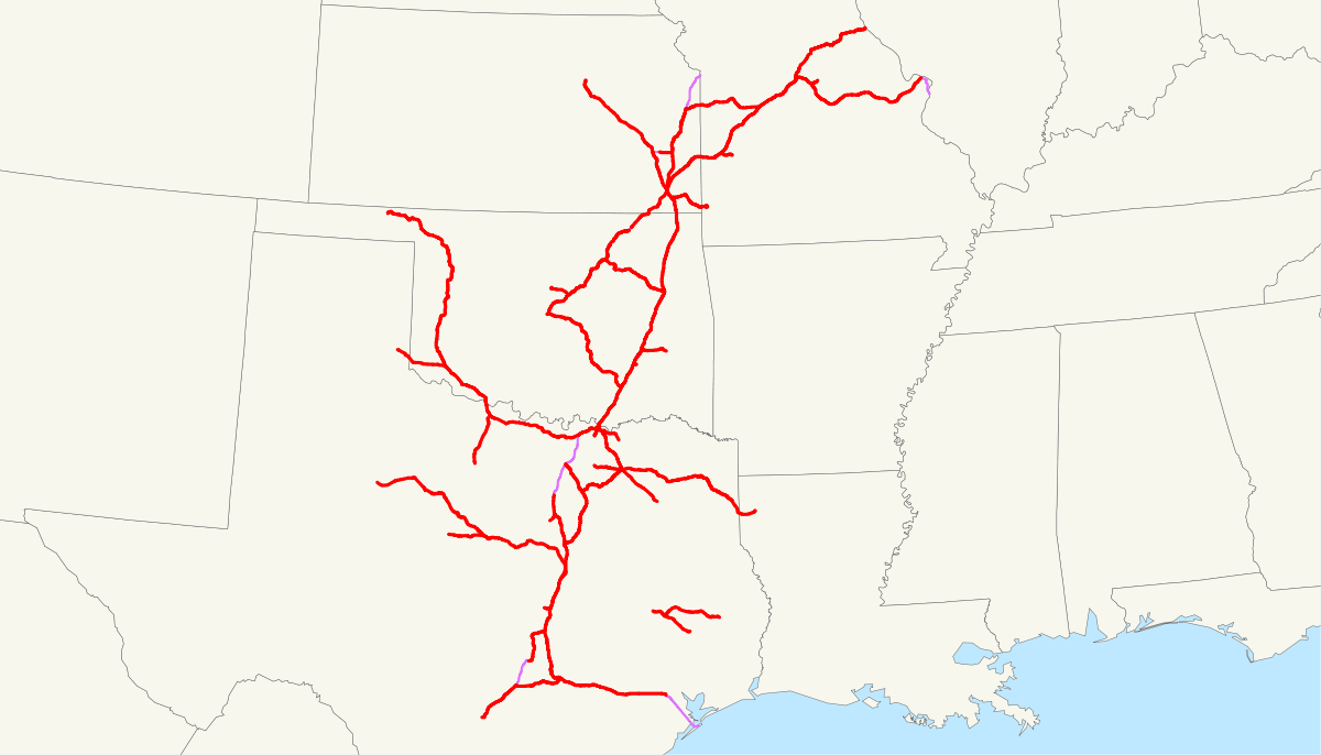 Katy Railroad Company Map