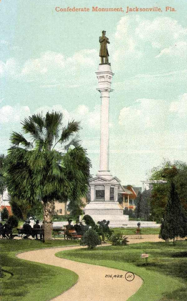 The Confederate Monument in Hemming Park