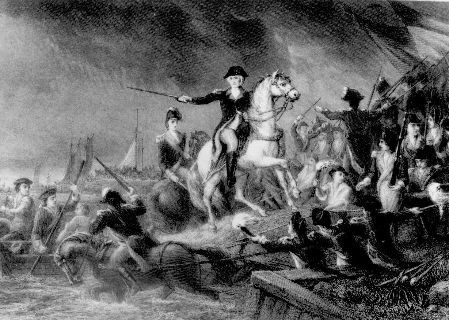 """Retreat at Long Island,"" an engraving by J.C. Armytage"