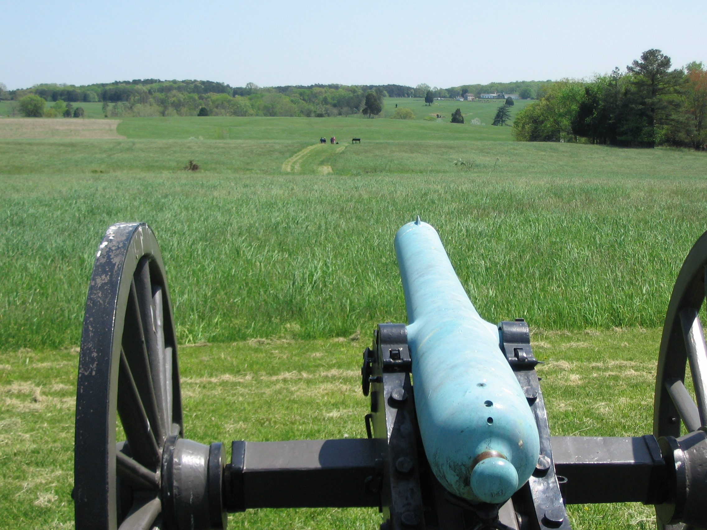 A view overlooking the battlefield