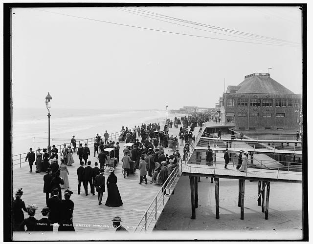 Atlantic City Boardwalk, Easter Morning (circa 1900)