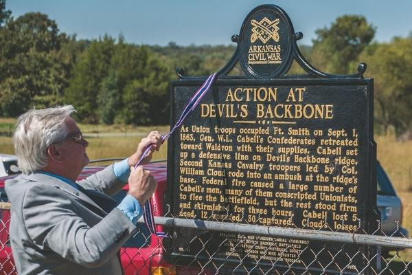 Devil's Backbone Historical Marker