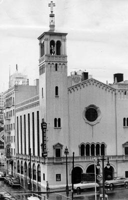 Glide Memorial Church in 1953