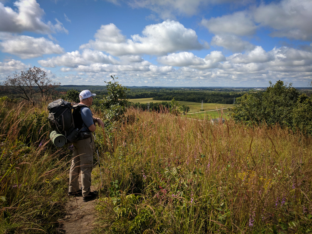 Backpacking through the Kettle Moraine.  Photo by Cameron Gillie, used with permission.