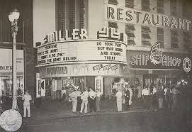 Facade of Miller Theatre C. 1950