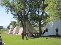 Ute teepee exhibits