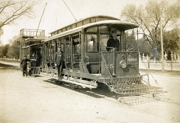"""Fair Oaks Streetcar."" c. 1910. Wisconsin Historical Society Image 24965.