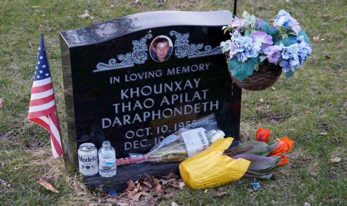 Khounxay Thao Apilate Daraphondeth grave (traditional Hmong)