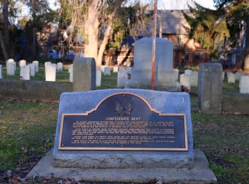 Plague in Confederate's Rest commemorating Alice Whiting Waterman
