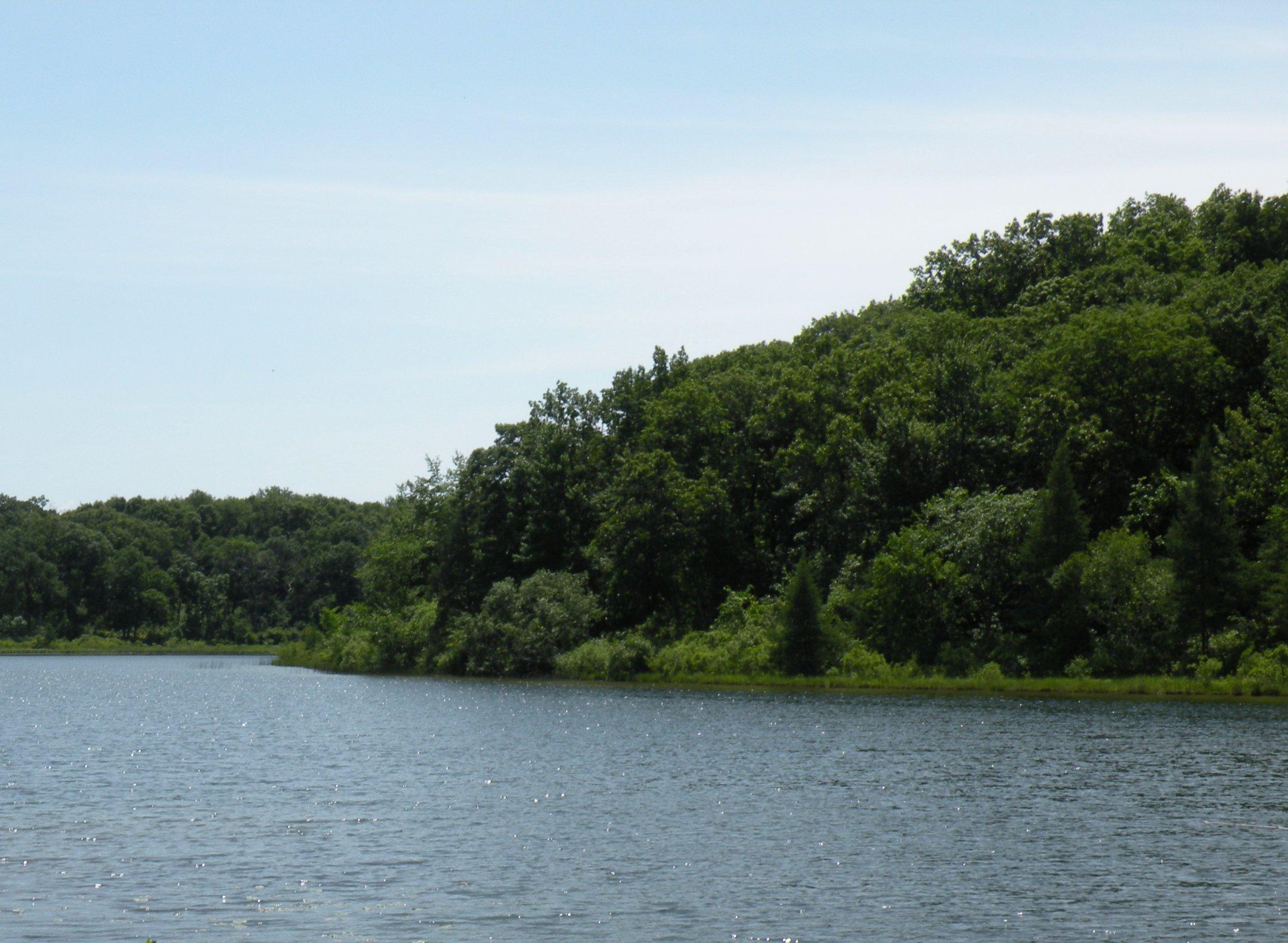 Ennis Lake, a spring-fed lake that covers 30 acres. Photo taken by John W. Iwanski.