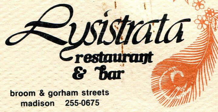 Business card from Lysistrata, ca. 1978