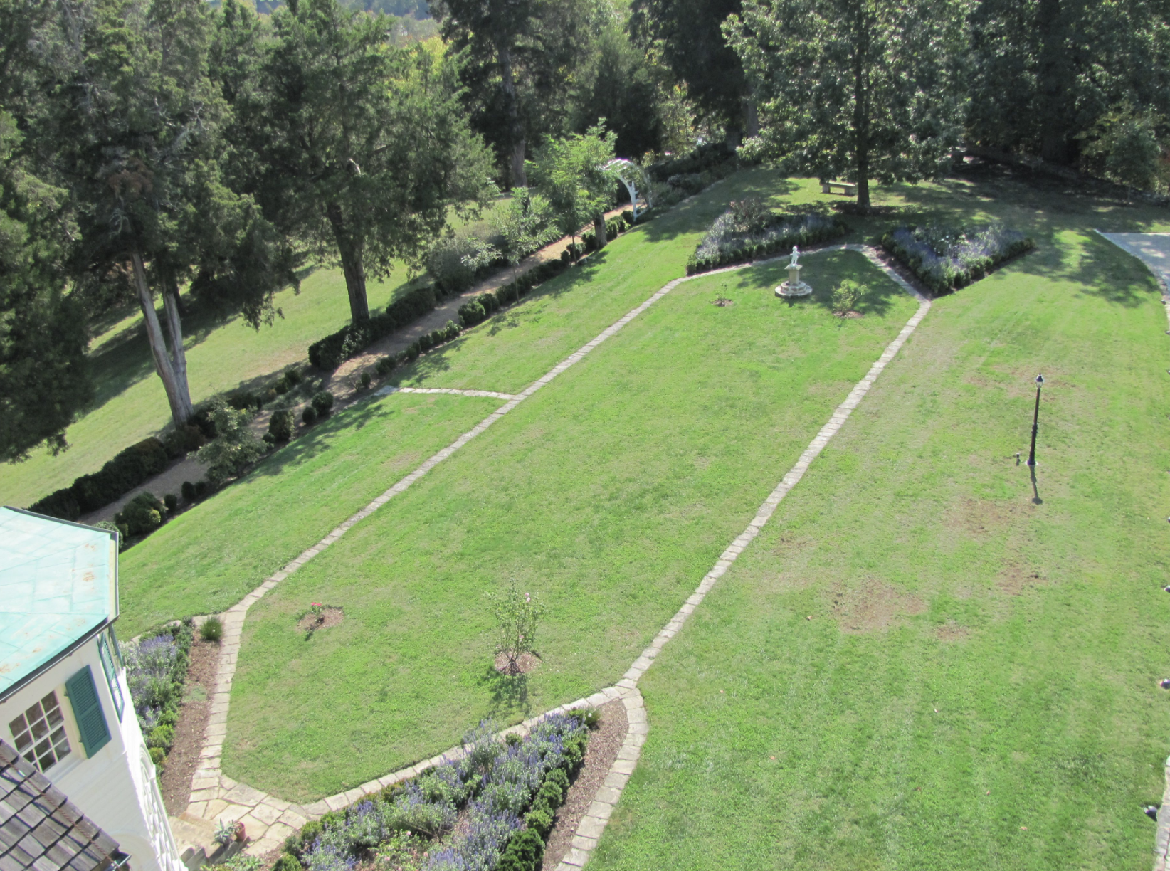 Formal Garden and Paths, Aerial View