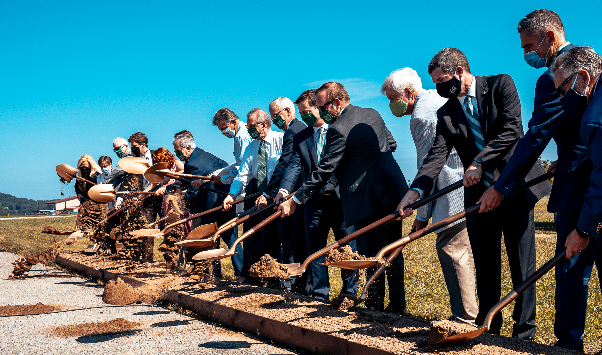 Groundbreaking at Yeager Airport August 13, 2020