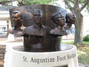 The St. Augustine Foot Soldier Monument was built to remember the participants in St. Augustine's protests against segregation.