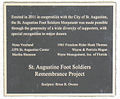 Foot Soldier Monument Donor Plaque