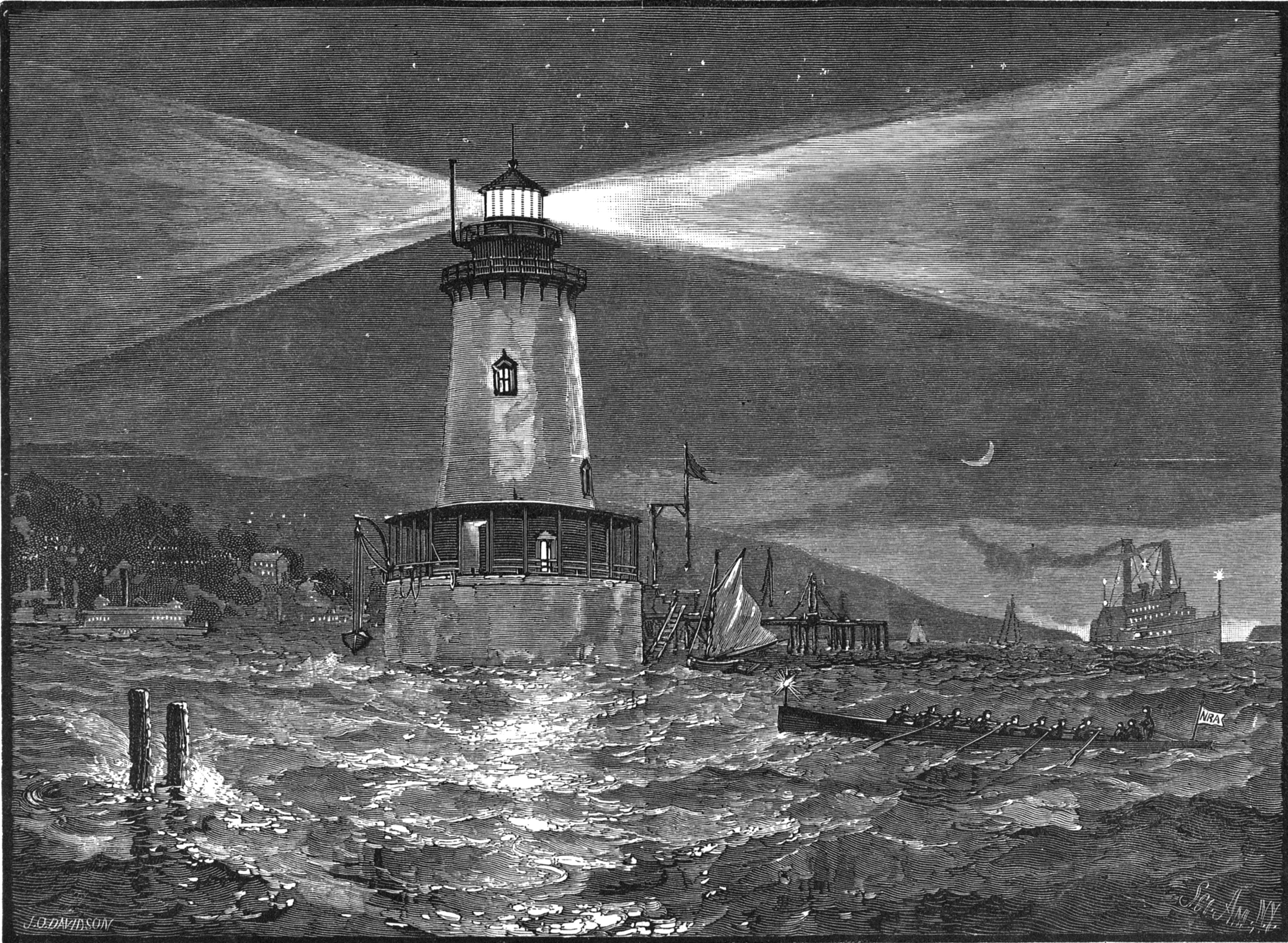 New Government Lighthouse at Tarrytown (1884)