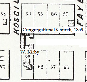 Location of the house in 1854, its now razed.