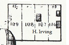 1854 location of Henery Irving's house.
