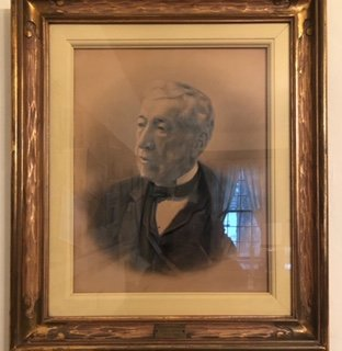 Featured is a portrait of Abram Thomson, the first of many in his family to own the paper. It was in his family for 161 years of the paper's 200 years of existence