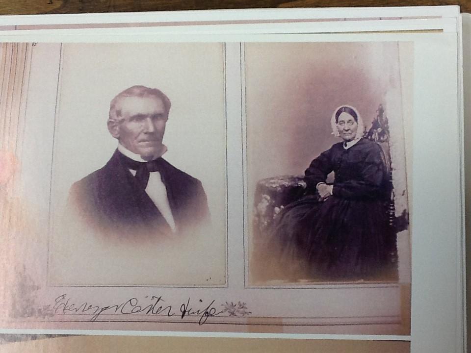 Undated photo of Ebenezer and Eliza Carter