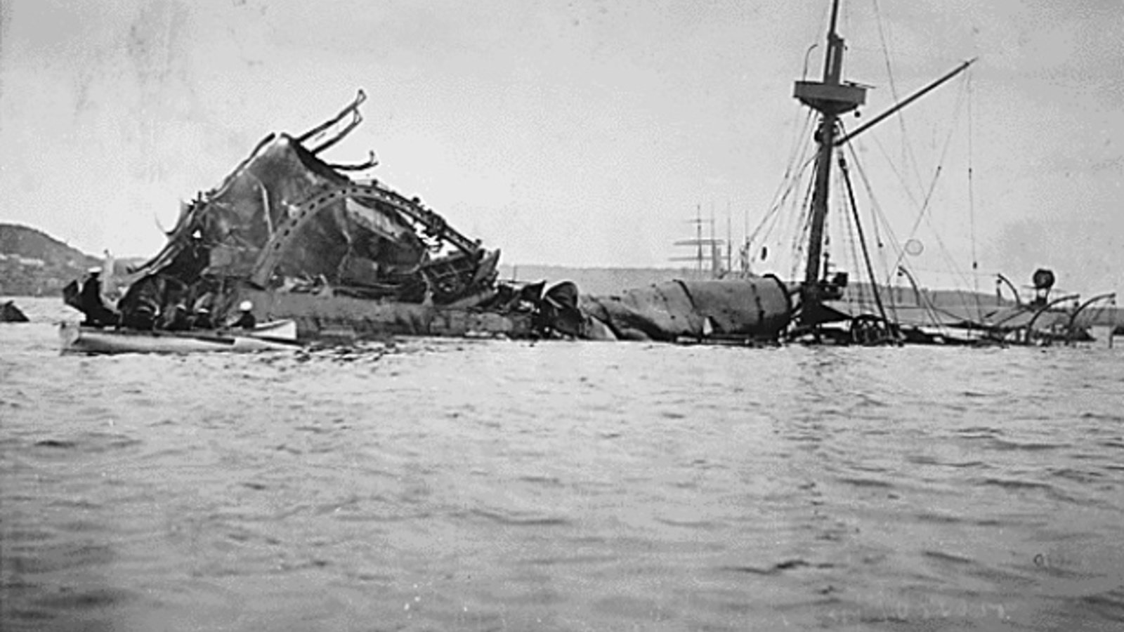 The wreckage of the U.S.S. Maine