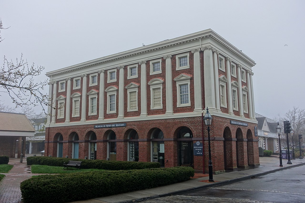 Construction on the Old Brick Market, which houses the Museum of Newport History, began in 1762.