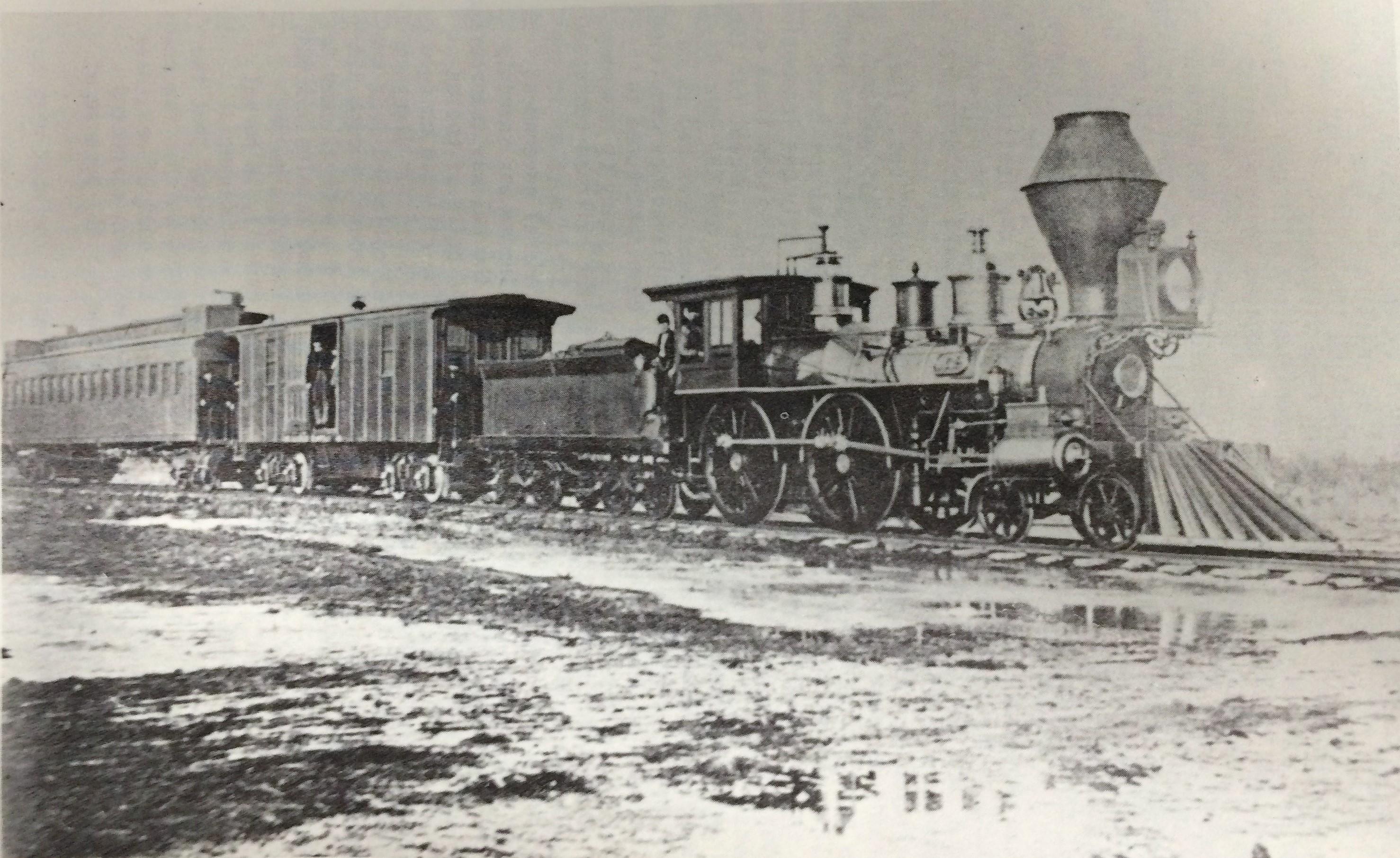 V.S.&P. RR locomotive